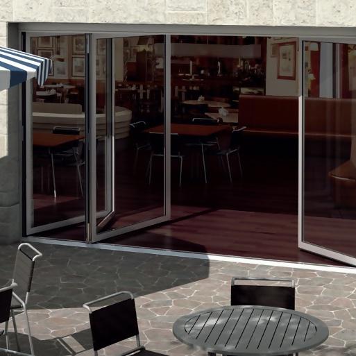 Sisteme Schüco pentru uși pliante – forme frumoase și practice